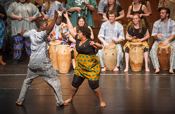 photo of african drum and dance