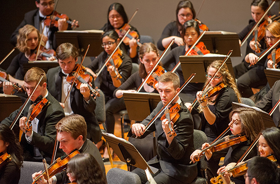 photo of Crane Symphony Orchestra students performing