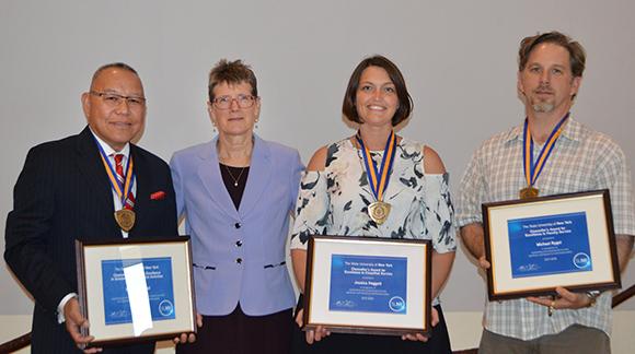 Photo of Chancellor's Award recipients for 2018