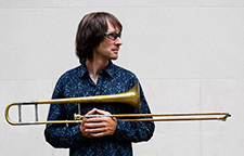 Image of Chris Washburne, trombonist for Crane Latin Ensemble
