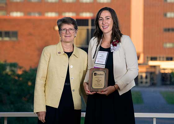 Photo of President Esterberg with Erin E. Wagner
