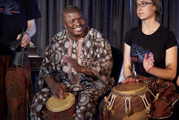 Photo of master drummer and educator Kwasi Dunyo