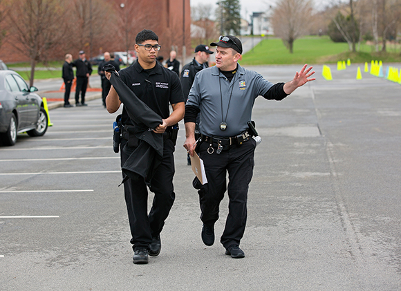 photo of criminal justice student and director of Law Enforcement Training