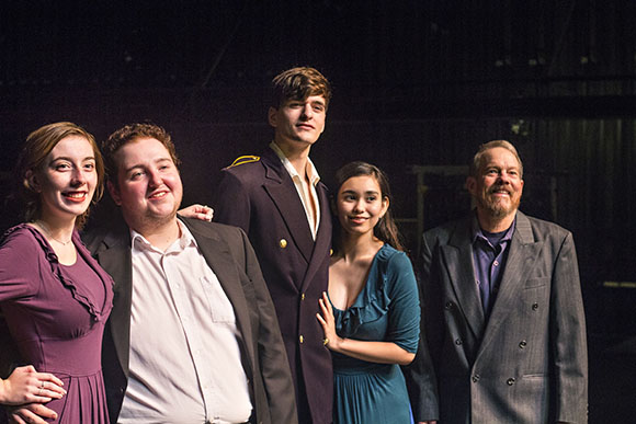 Photo of some of the cast from production, 'Much Ado About Nothing'