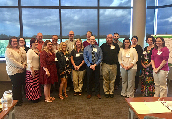 Rising leaders in St. Lawrence Leadership Institute at SUNY Potsdam