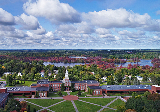 photo of SUNY Potsdam campus view