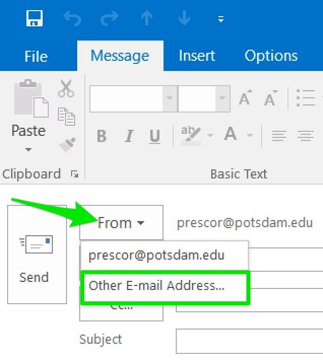 Send-As Windows Sreenshot