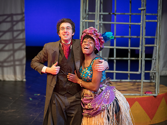 Tristan Lesso and Christina Morris performing a scene from 'Venus'