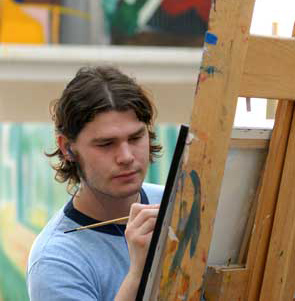 Artist Painting Photo