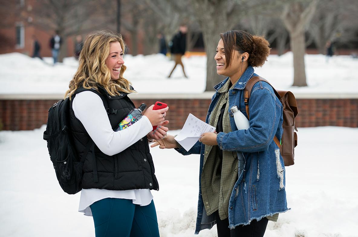 campus winter photo