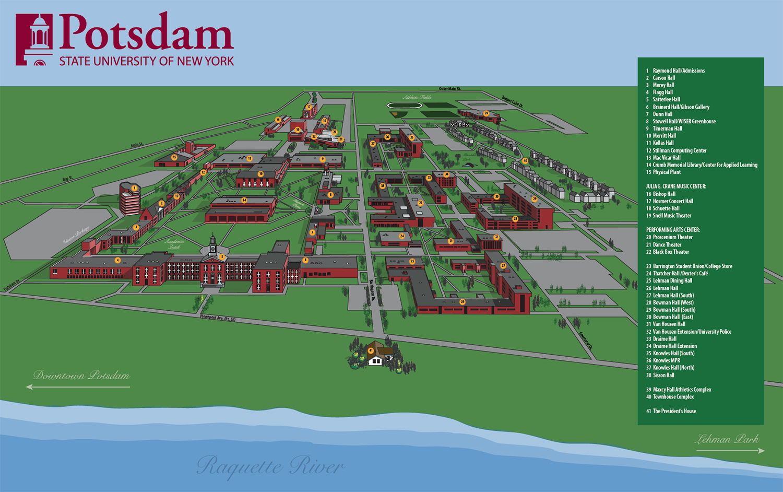 SUNY Potsdam campus map
