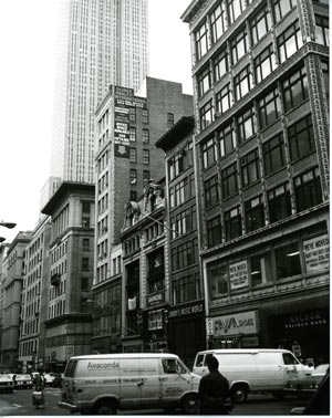 Warhol photograph of New York City