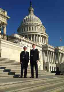Lukas Gruber and Fred Volz on the steps of the US Capitol.