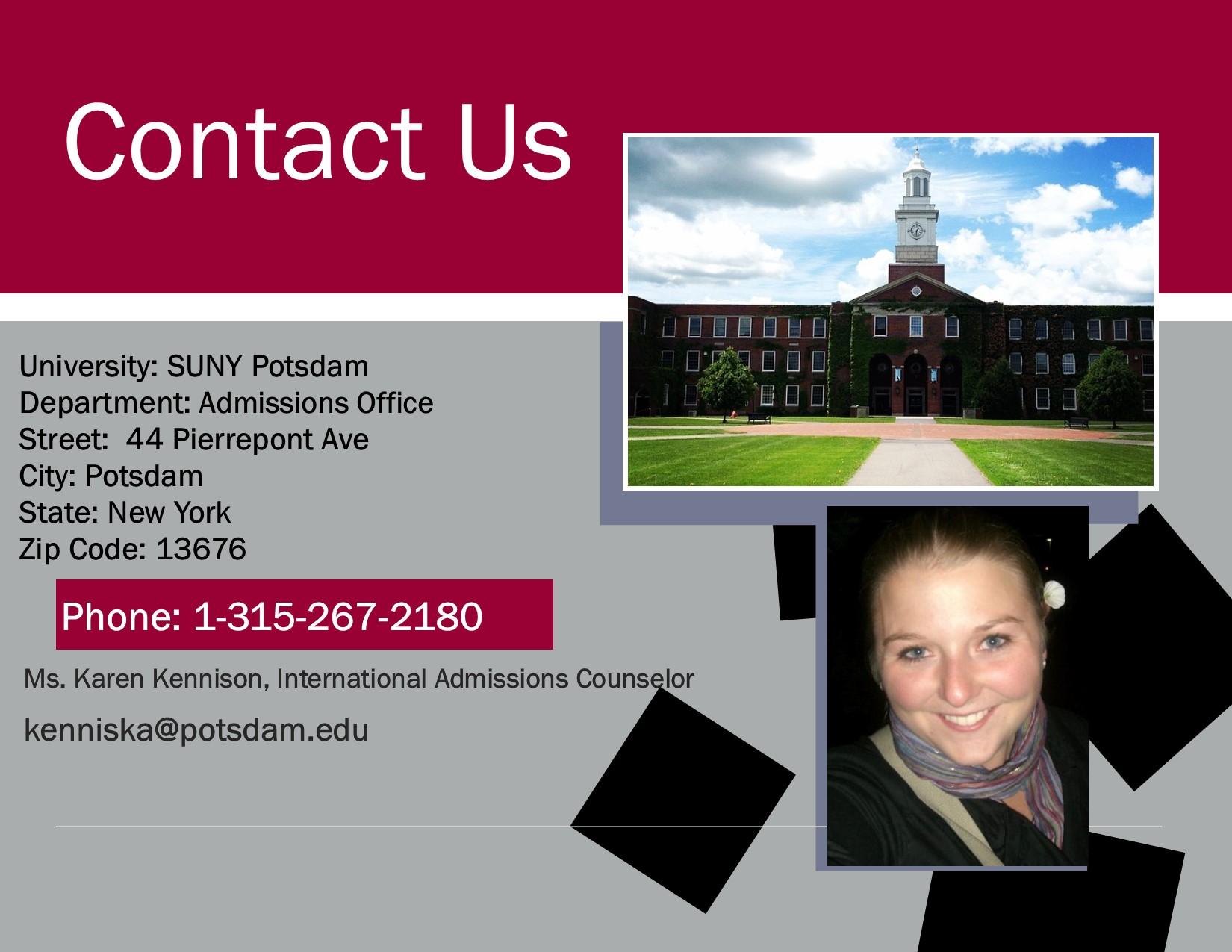freshmen requirements suny potsdam contact us poster freshman