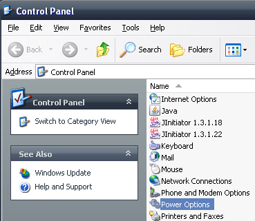 Control Panel Screen Grab