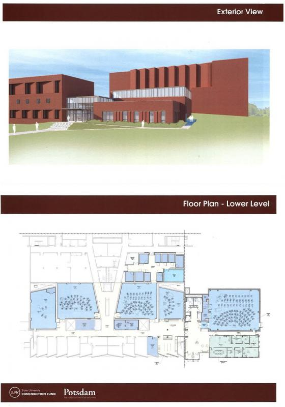 Crane School of Music with planned addition and renovation of Bishop Hall