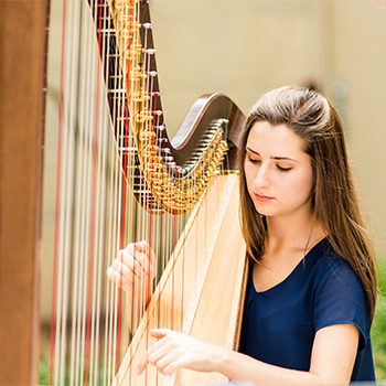 Harpist Anna Wiegandt '16 will perform in an alumni recital at The Crane School of Music on Nov. 4.