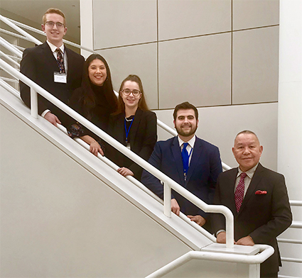 Business students in Buffalo for Business Competition Finals