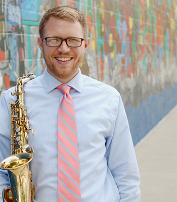 Casey Grev, an assistant professor of saxophone, will present a faculty recital along with pianist Yoojung Kim and clarinetist Julianne Kirk Doyle on Oct. 22 at The Crane School of Music.