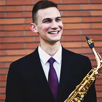 Saxophonist Andrew Lammly '15 & '19 will perform in an alumni recital at The Crane School of Music on Nov. 4.