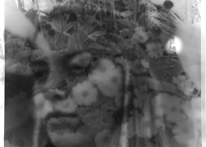 """""""Flower Child,"""" a silver gelatin print by Erica Sloan, will be on display at the St. Lawrence County High School Art Show at The Art Museum at SUNY Potsdam."""