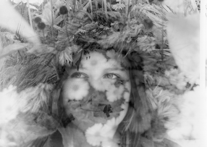 """""""Flower Power,"""" a silver gelatin print by Hannah Zenger from Parishville-Hopkinton Central School, is one of the works chosen for this year's St. Lawrence County High School Art Show"""