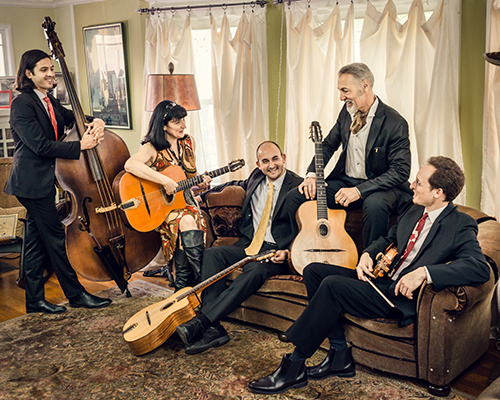 The Hot Club of San Francisco will present gypsy jazz twist on The Beatles songbook for the 2019-20 CPS Guest Artist Series, on Saturday, Nov. 16, at 7:30 p.m. in Snell Theater at The Crane School of Music.