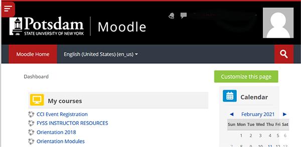 Moodle Screenshot