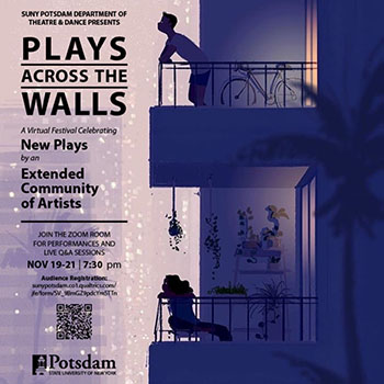 """Poster for """"Plays Across the Walls"""""""