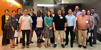 Members of the St. Lawrence Leadership Institute Class of 2019 gathered for a photo before the group's first class last fall. SLLI is now accepting applications for next year's class.
