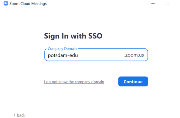 Zoom SSO Login Icon 2
