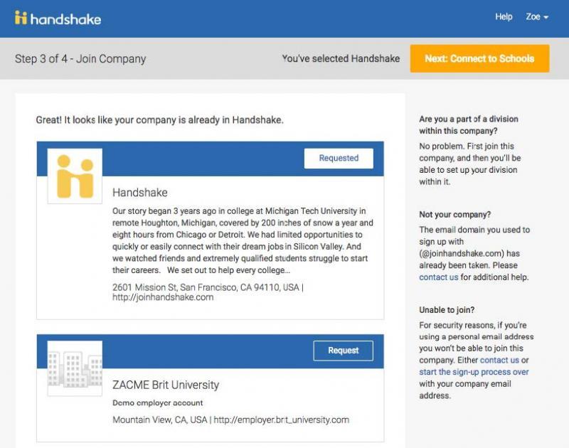 Handshake Instructions Step 7 Screenshot