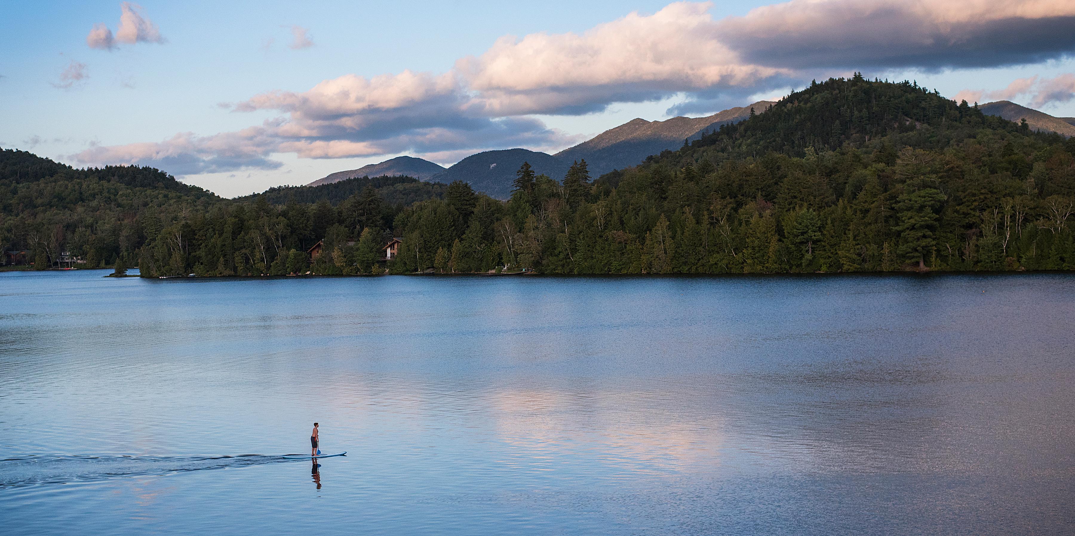 Lake Placid Paddleboat Photo