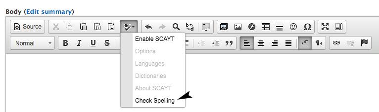 Spell Check Training Screenshot