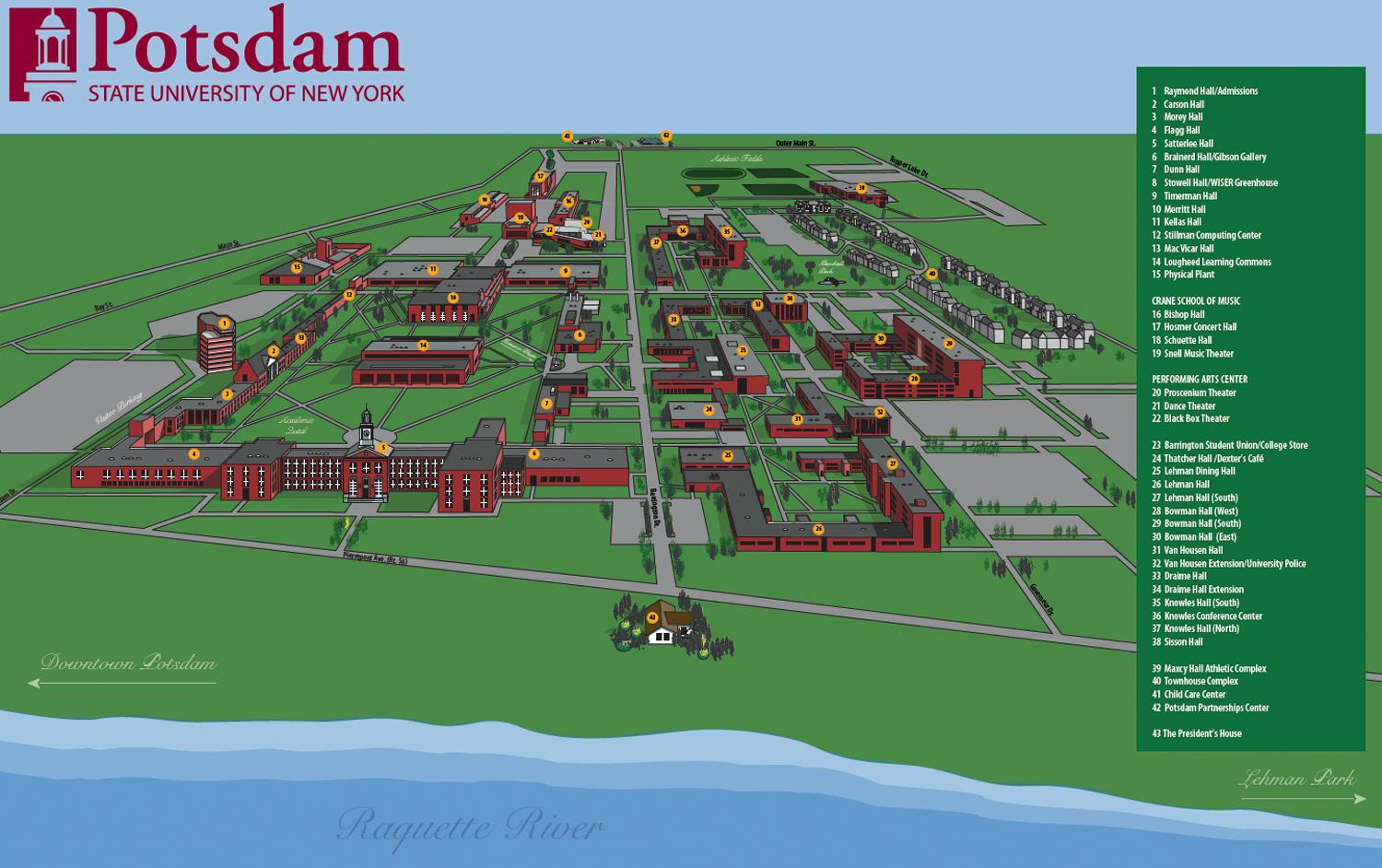 Map Of Potsdam Campus Free Download Oasis Dl Co